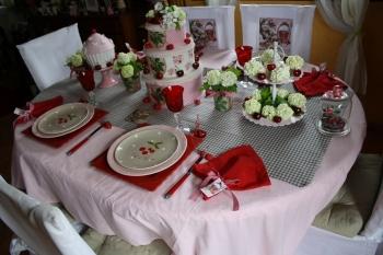 Une table avec des cerises pour la f te des m res - Faire une belle table ...