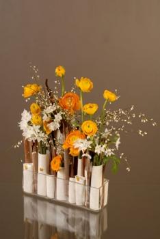 une composition florale aux couleurs printani res. Black Bedroom Furniture Sets. Home Design Ideas
