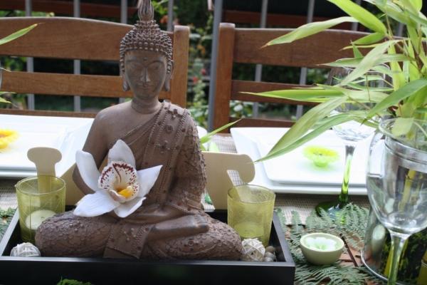 D co de table zen avec bambous frawsy - Tableau rectangulaire zen ...
