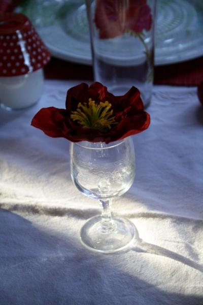 Une d co de table avec des coccinelles - Place du verre a eau sur une table ...