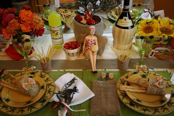 Decoration Italienne Table : Déco de table quot retour toscane