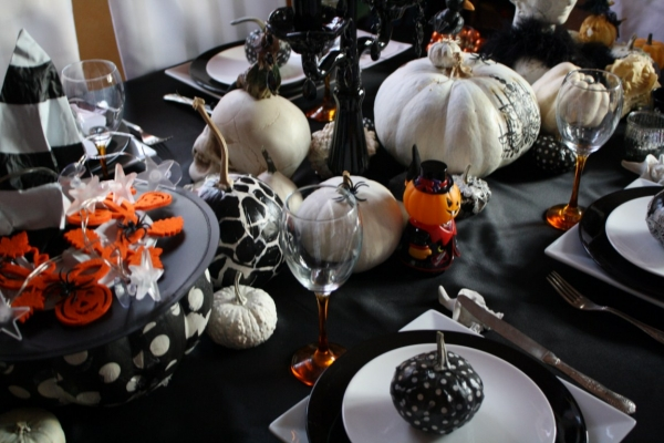 deco table halloween. Black Bedroom Furniture Sets. Home Design Ideas