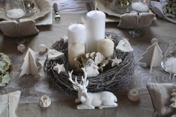 Maison Oiseaux Givre Decoration Noel