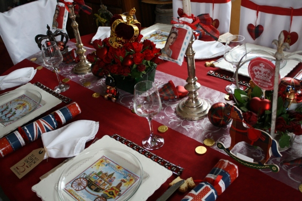 Une table de no l royale - Decoration de noel en anglais ...