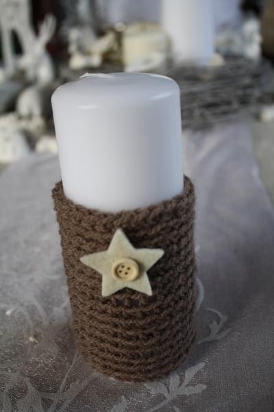 crocheter des fourreaux  u00e0 bougies