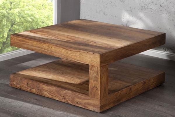 Le bois dans tous ses tats - Table basse bois massif exotique ...