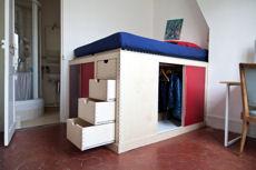 Optez pour un lit d co deux en un avec dressing int gr - Dressing sous lit mezzanine ...