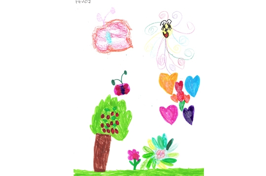famille dessins d 39 enfants le jardin d 39 abigail 5 ans. Black Bedroom Furniture Sets. Home Design Ideas