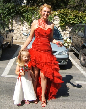 Robe mariage courte rouge